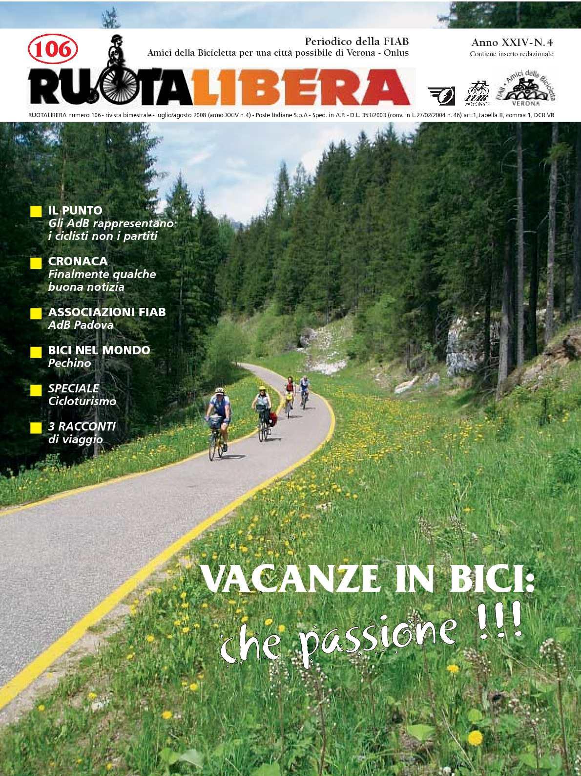 Ruotalibera 106 (luglio/agosto 2008) - FIAB AdB Verona