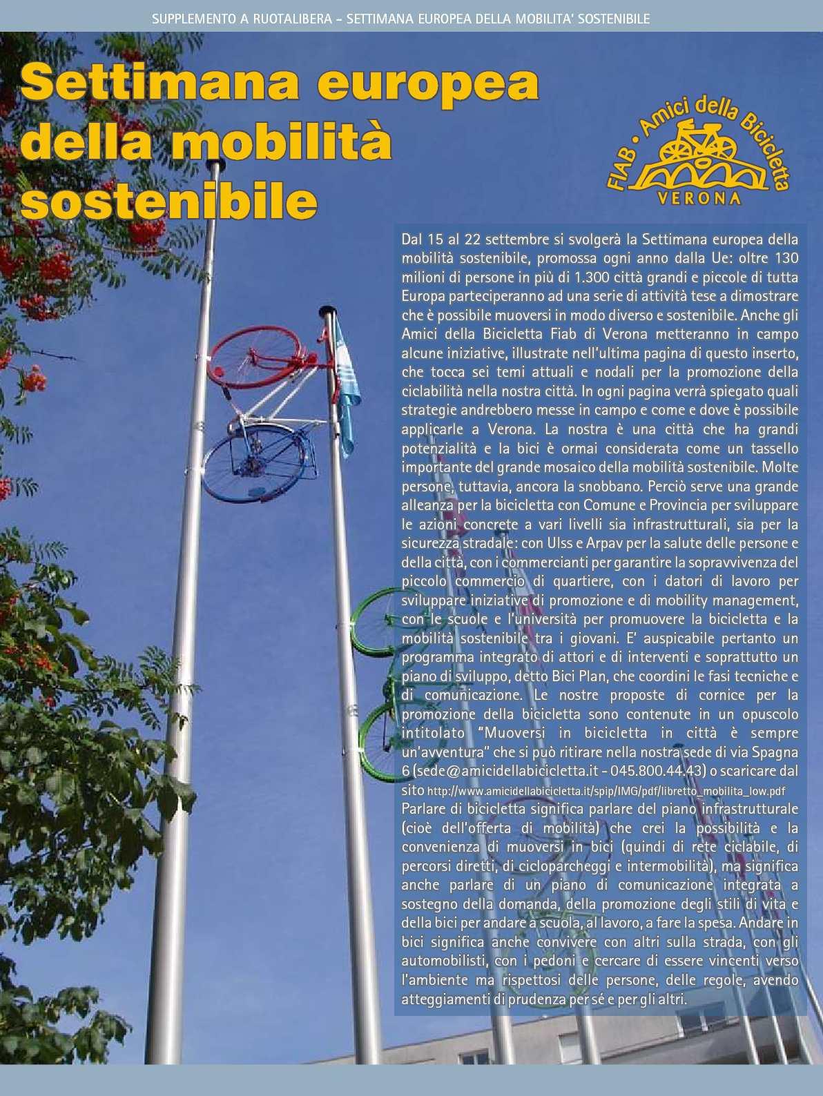 """Ruotalibera 108-bis (Supplemento) """"Settimana della MS"""" - FIAB AdB Verona"""