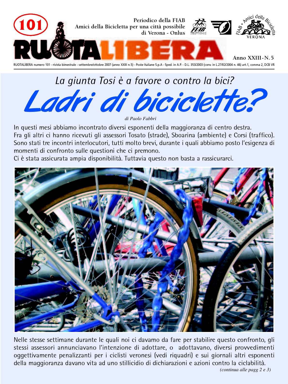 Ruotalibera 101 (settembre/ottobre 2007) - FIAB AdB Verona