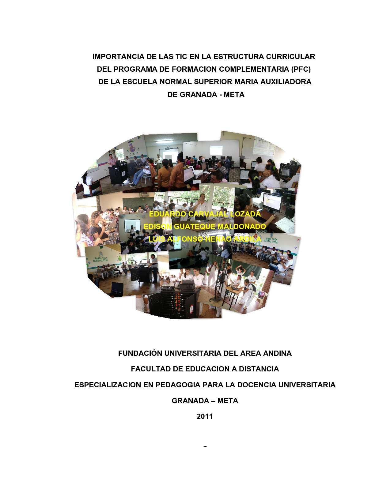 Calaméo - IMPORTANCIA DE LAS TIC EN LA ESTRUCTURA CURRICULAR