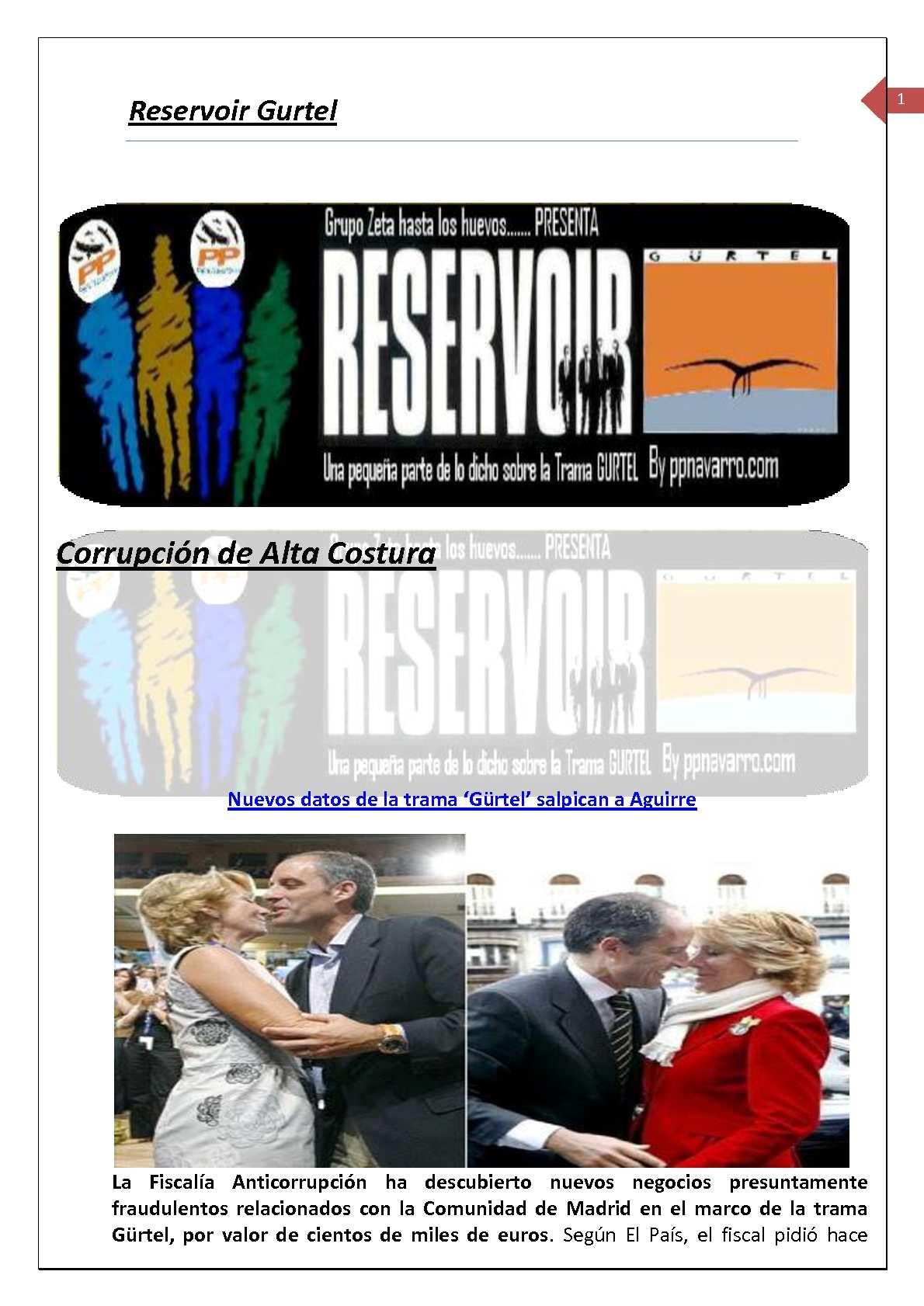 Calaméo - Reservoir Gurtel. Corrupcion de alta costura