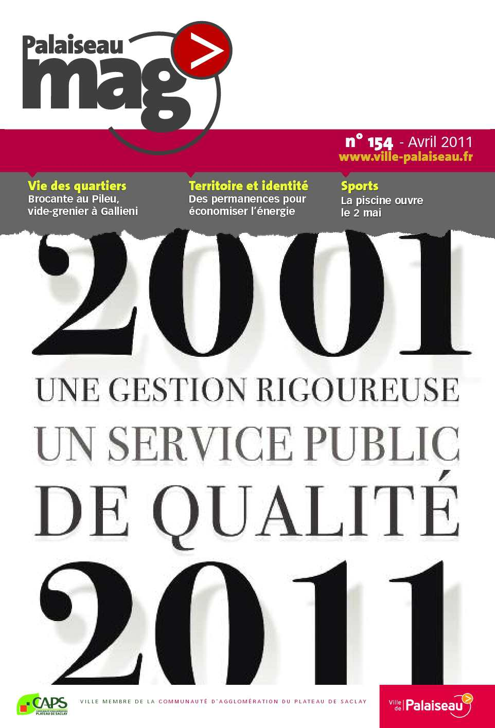 Calam o palaiseau mag 39 n 154 avril 2011 for Piscine de palaiseau