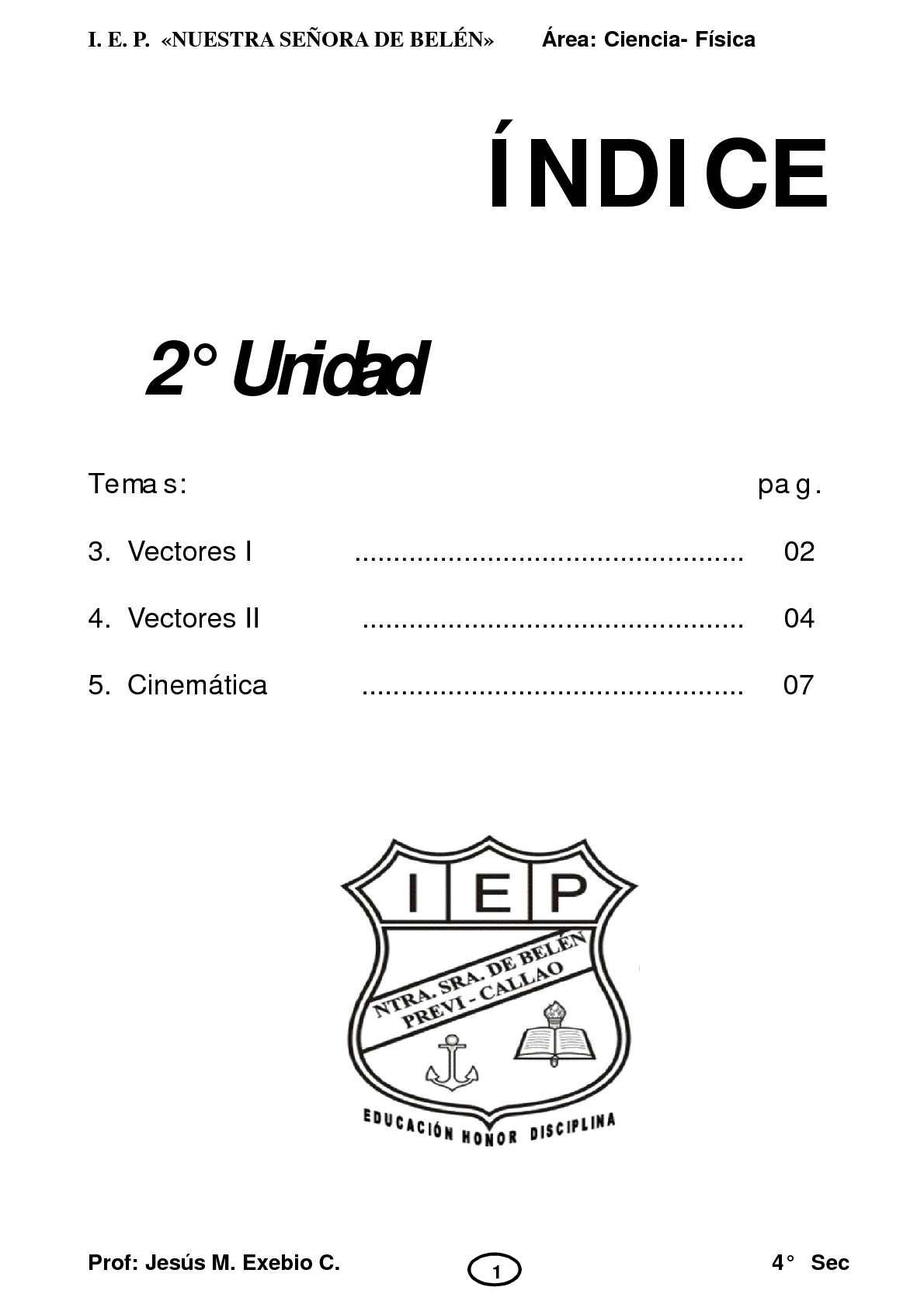 TEORIA FISICA 4 SEC 2 UNIDAD