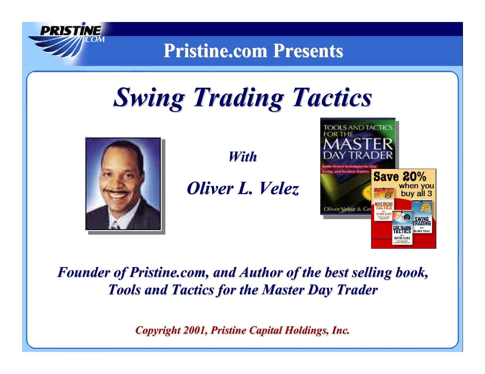 Oliver Velez - Swing Trading Tactics