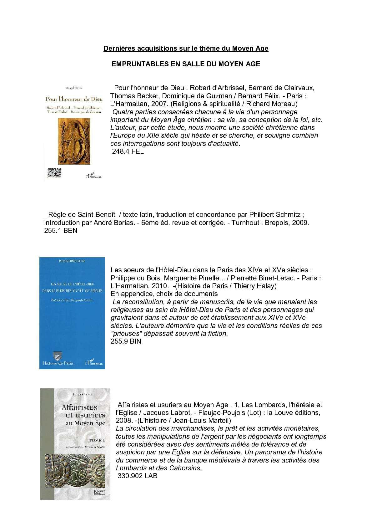 eeff8615b03b45 Calaméo - Catalogue Moyen Age