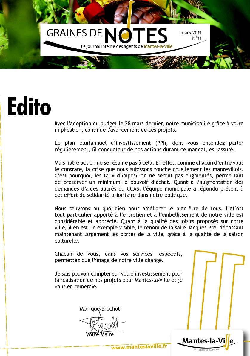 Calaméo - Graines de notes - Journal interne des agents de ...