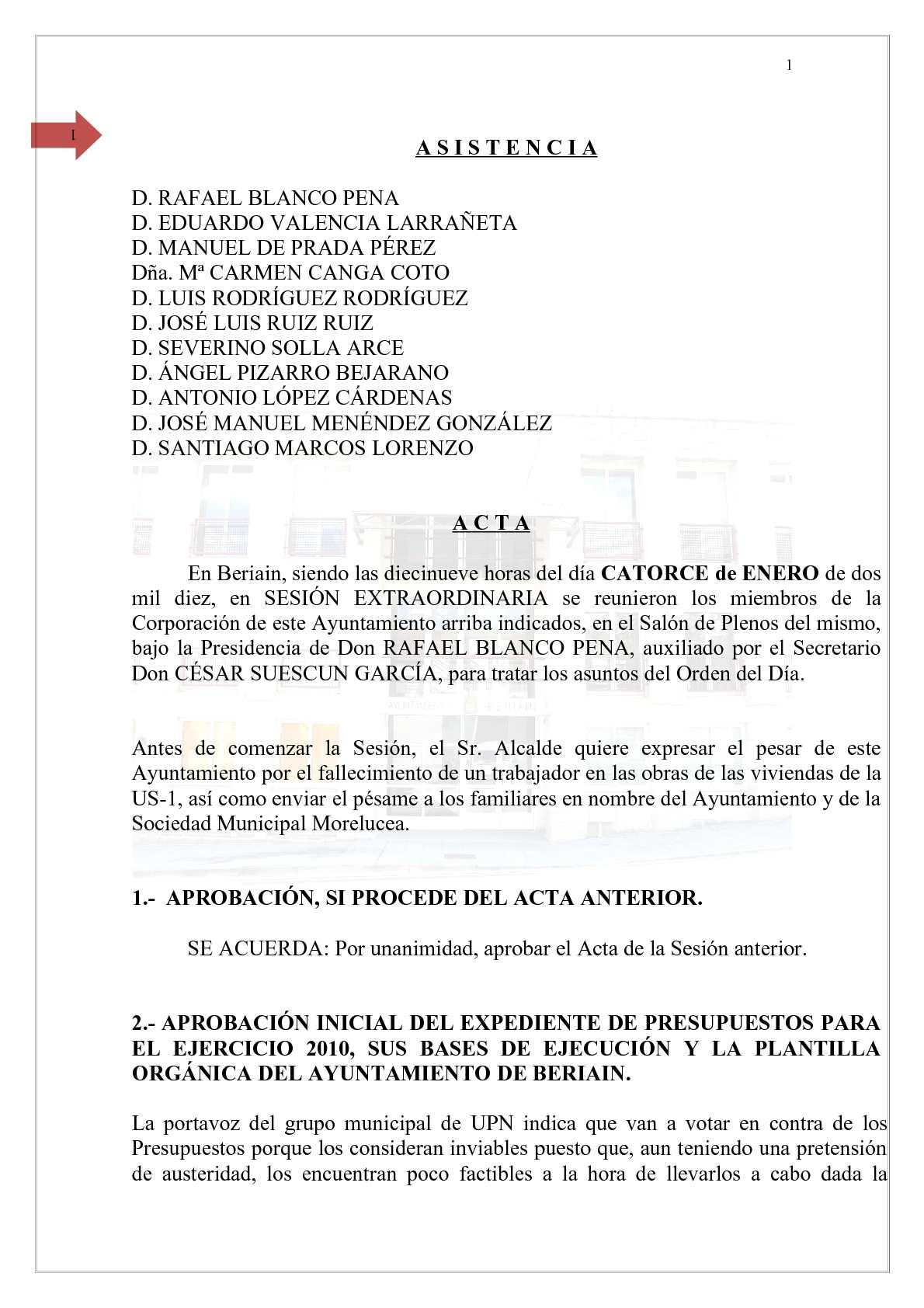 Calaméo - Acta del 14-1-2010