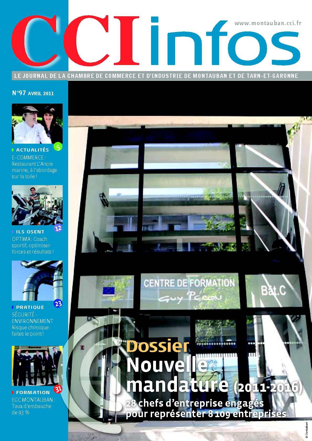 Calam o cci infos avril 2011 for Chambre de commerce montauban