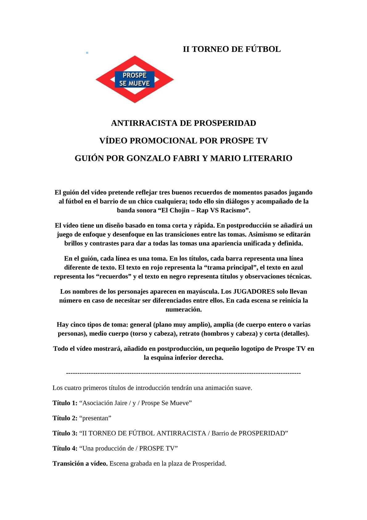 Calaméo - Guión del vídeo promocional del II Torneo de Fútbol ...