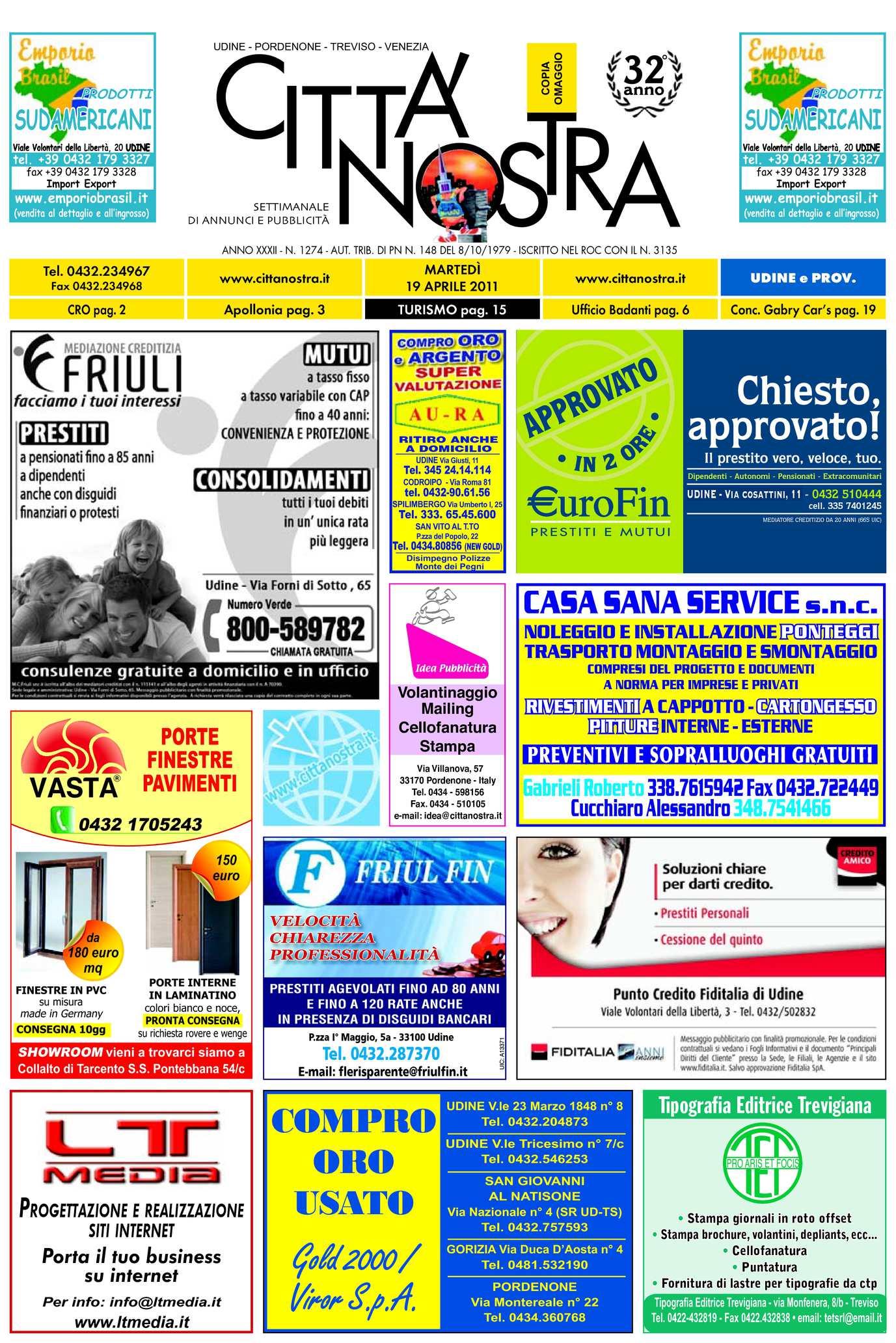 Calaméo Citt Nostra Udine Del 19 04 2011 N 1274