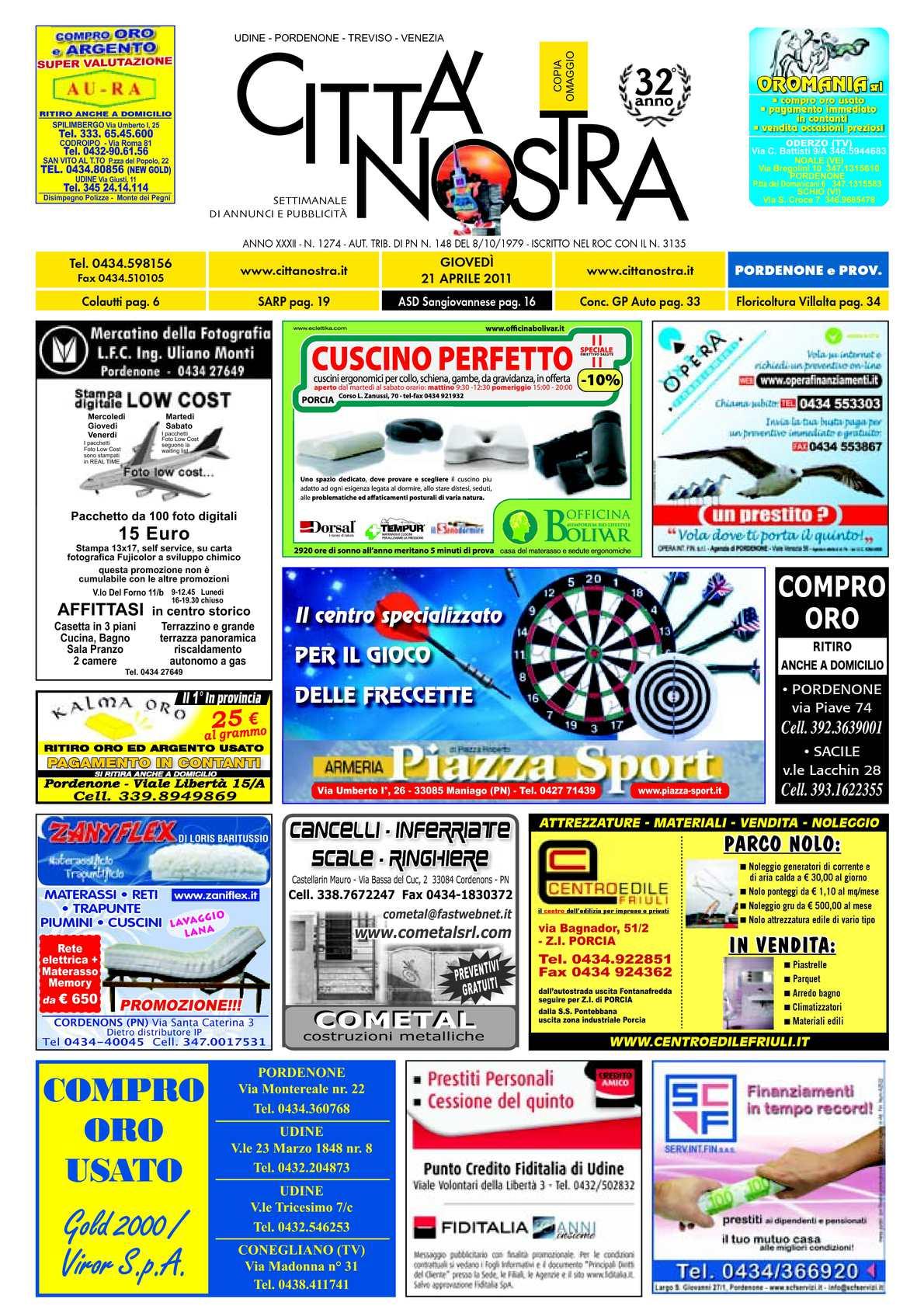 Calaméo Citt Nostra Pordenone Del 21 04 2011 N 1274