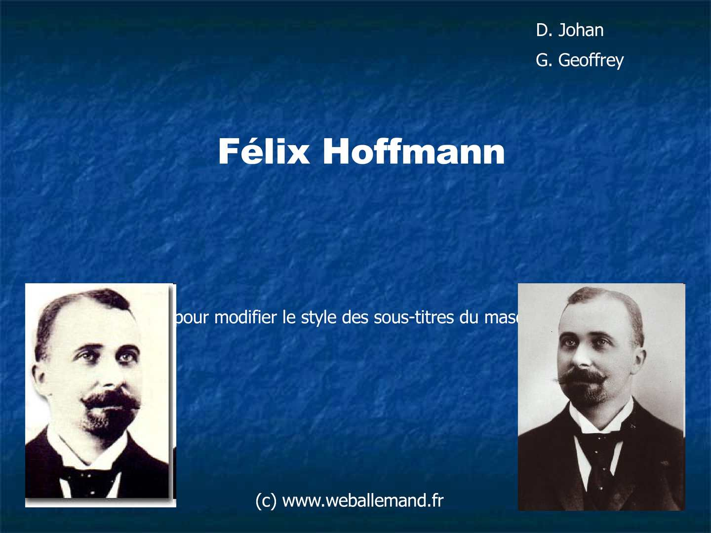 felix hoffmann and the discovery of aspirin