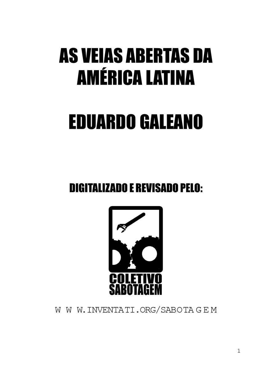 Calaméo - Veias Abertas da América Latina(EduardoGaleano) eb4c6069b46