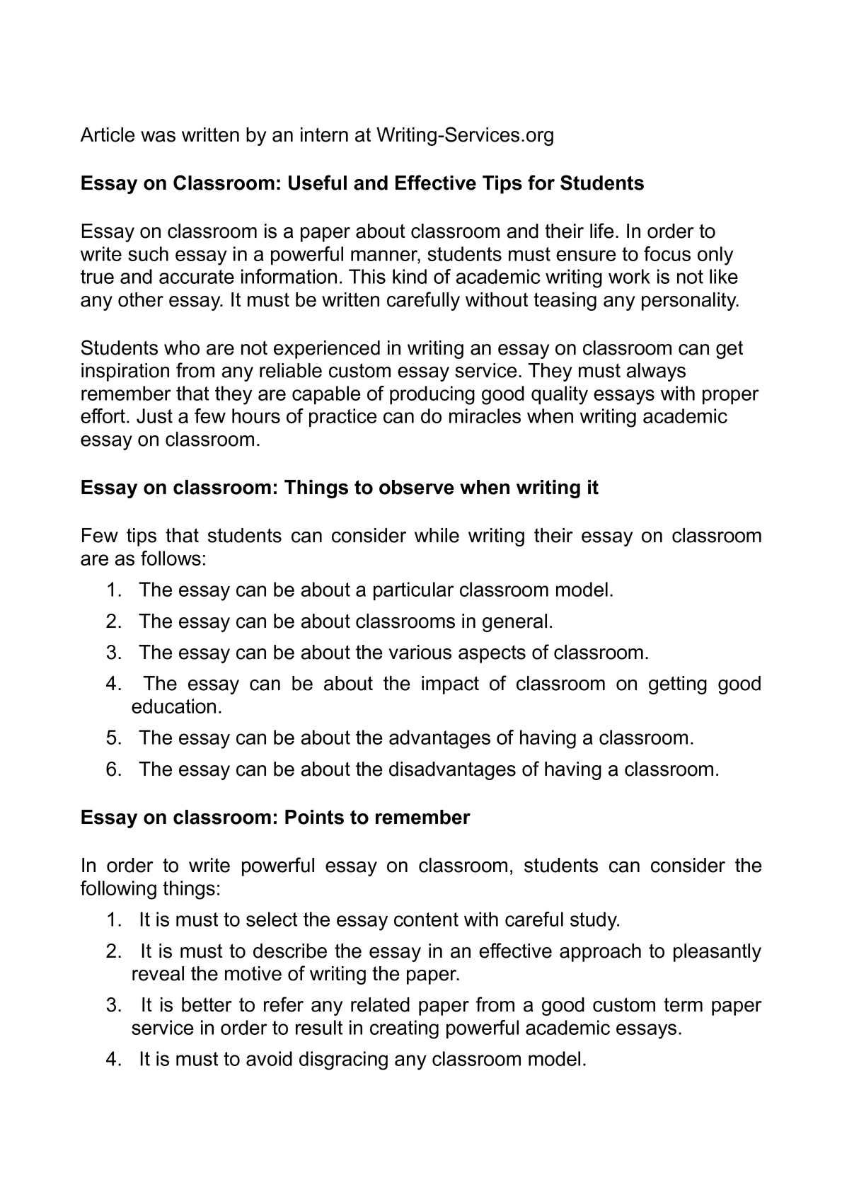 Samples Of Persuasive Essays For High School Students  College Essay Paper also High School Vs College Essay Calamo  Essay On Classroom Useful And Effective Tips For Students Essay Health Care