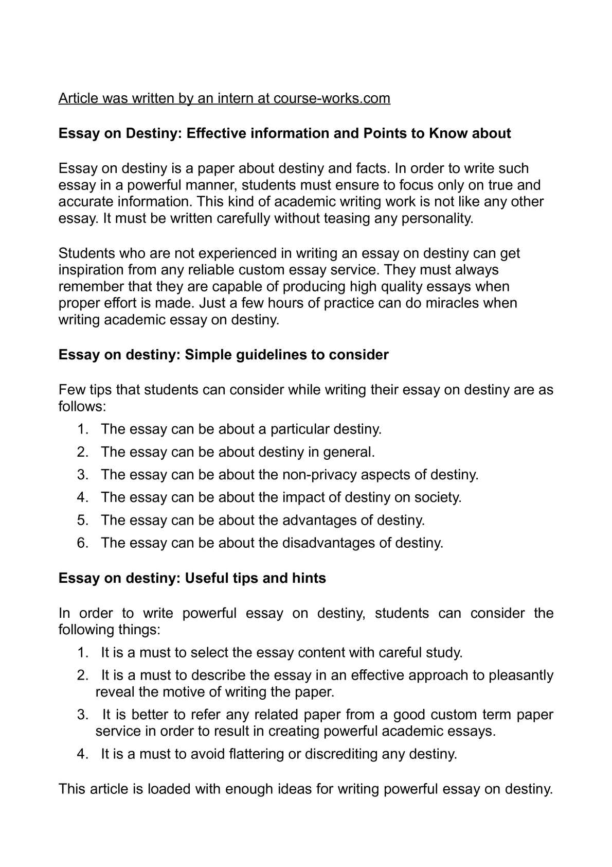 High School Essay Sample Calamo  Essay On Destiny Effective Information And Points To Know About Essay Mahatma Gandhi English also Healthy Food Essays Calamo  Essay On Destiny Effective Information And Points To Know  Science Development Essay
