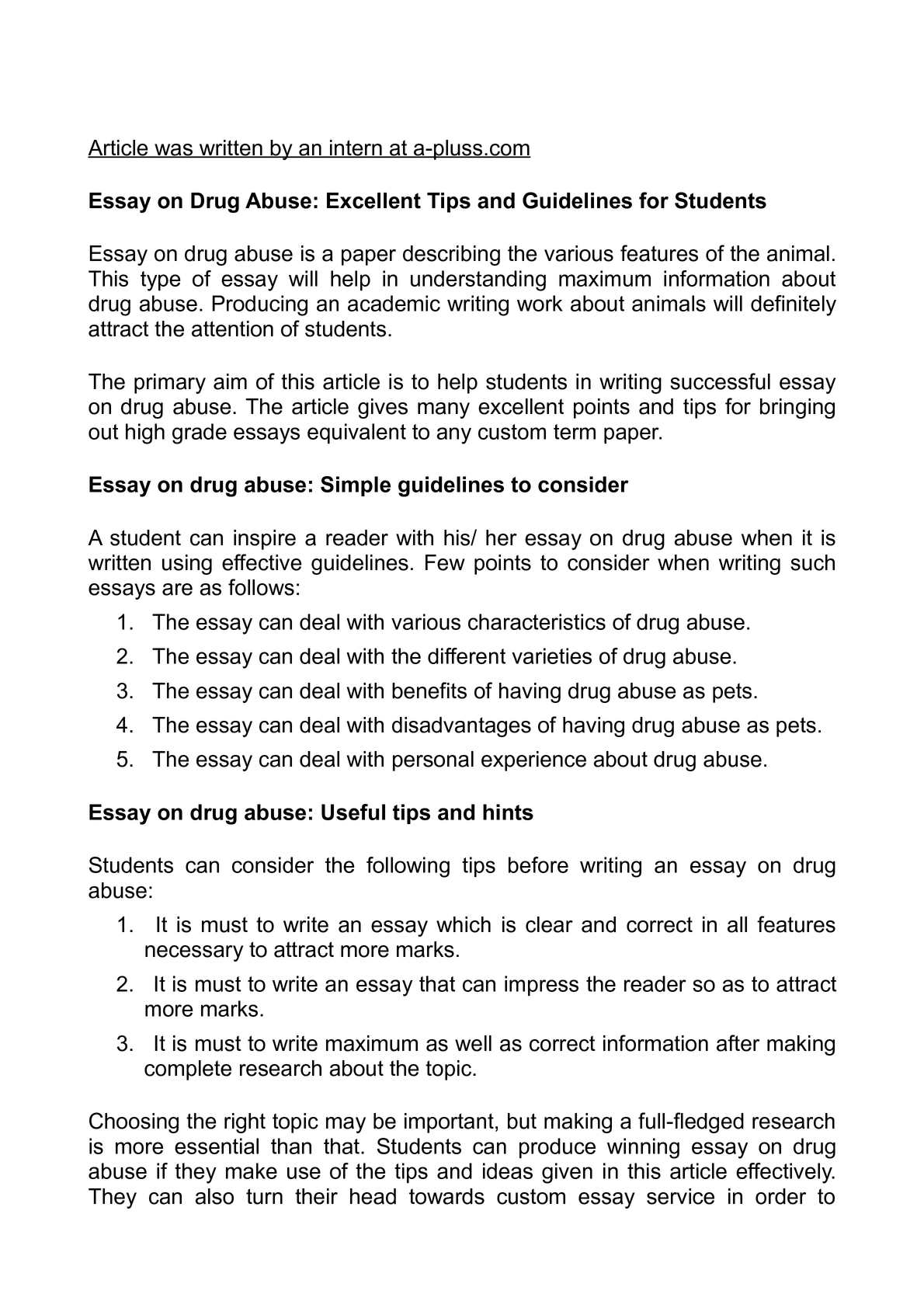 Calamo  Essay On Drug Abuse Excellent Tips And Guidelines For  Calamo  Essay On Drug Abuse Excellent Tips And Guidelines For Students