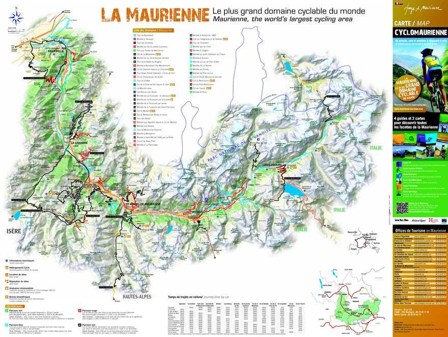 Calam o carte cyclo maurienne - Office du tourisme saint jean de maurienne ...