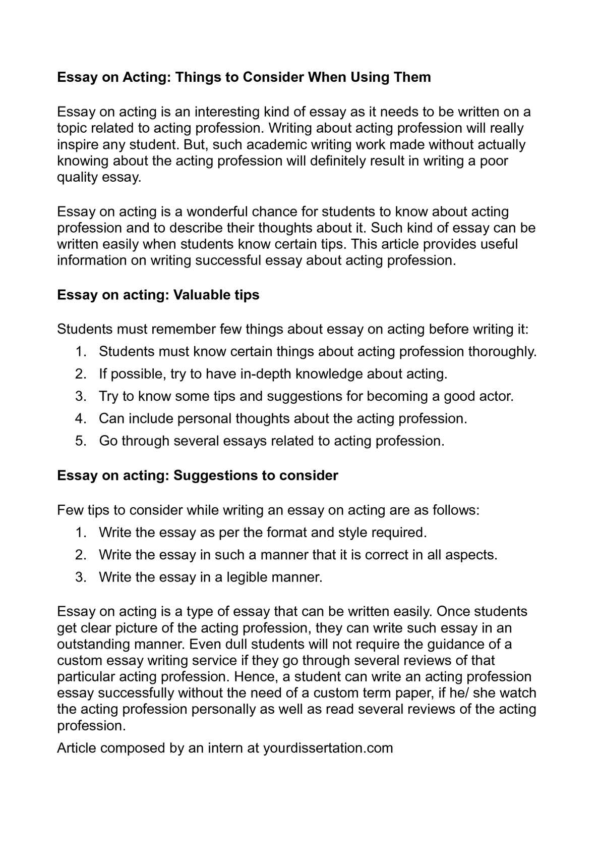 Sample Proposal Essay Calamo  Essay On Acting Things To Consider When Using Them Essay Health Care also Samples Of Essay Writing In English Acting Essays  Hepatitze Essay Proposal Outline