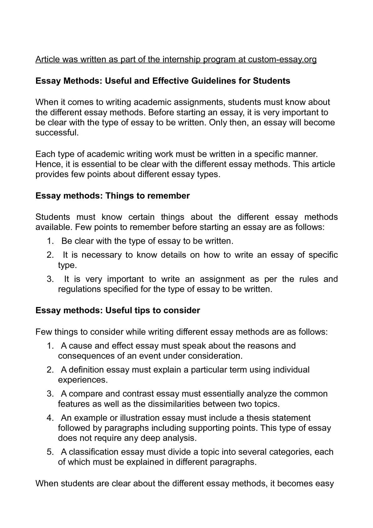 Example Of Essay Proposal  How To Make A Thesis Statement For An Essay also Political Science Essay Calamo  Essay Methods Useful And Effective Guidelines For Students Essay Examples For High School