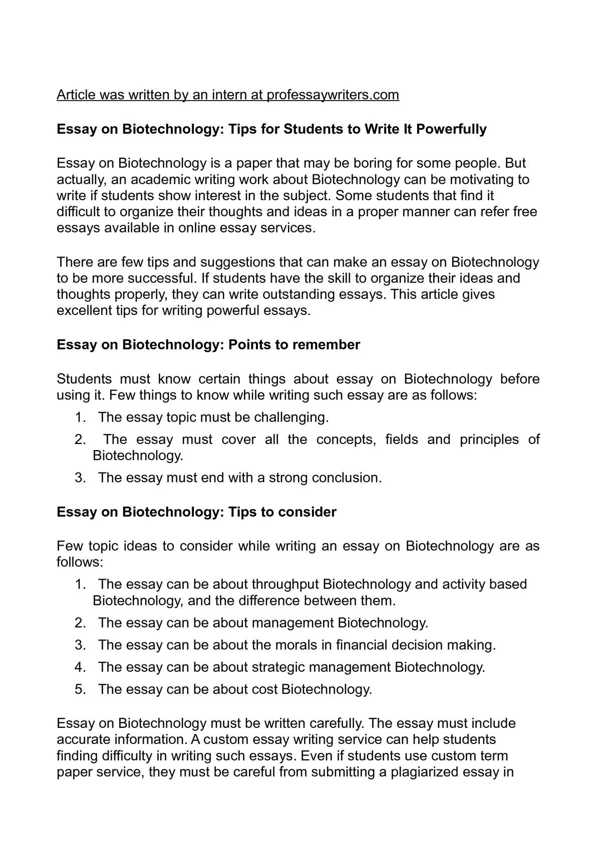 essay on biotechnology tips for students to write it  essay on biotechnology tips for students to write it powerfully
