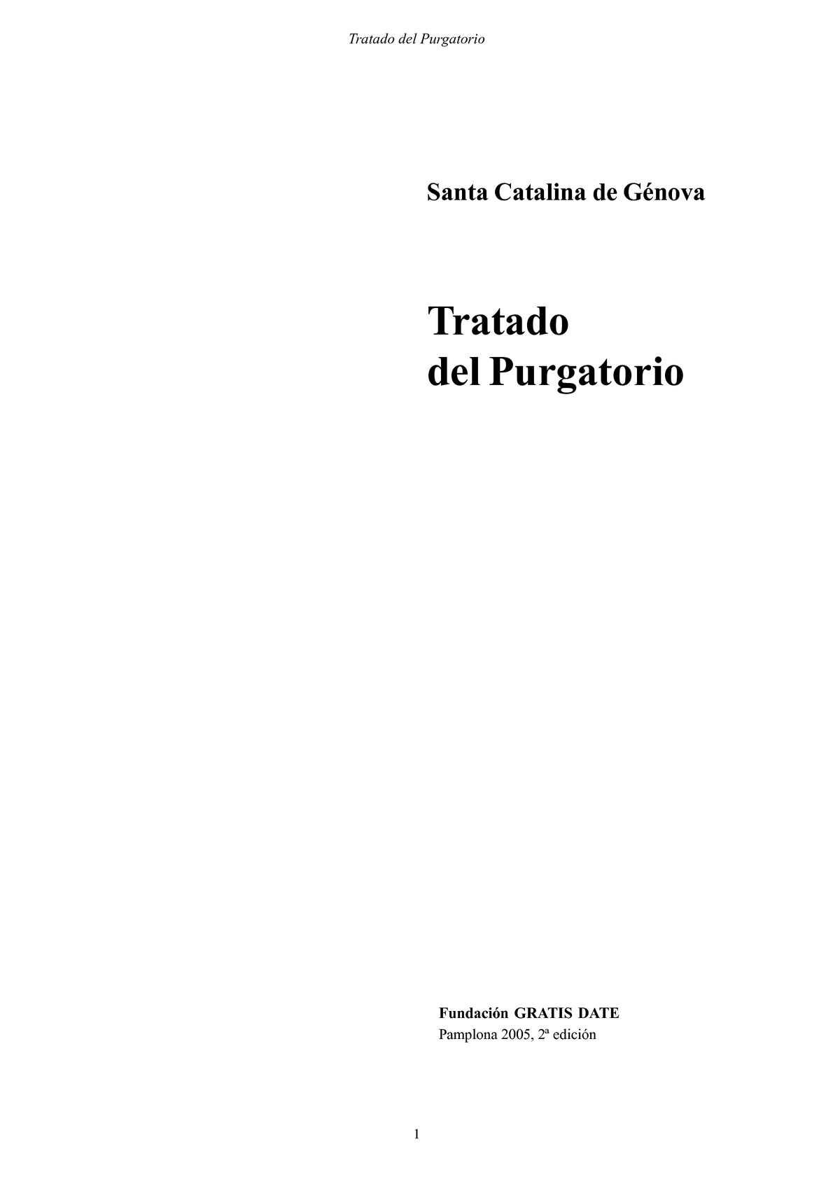 TRATADO SOBRE EL PURGATORIO-SANTA CATALINA DE GENOVA