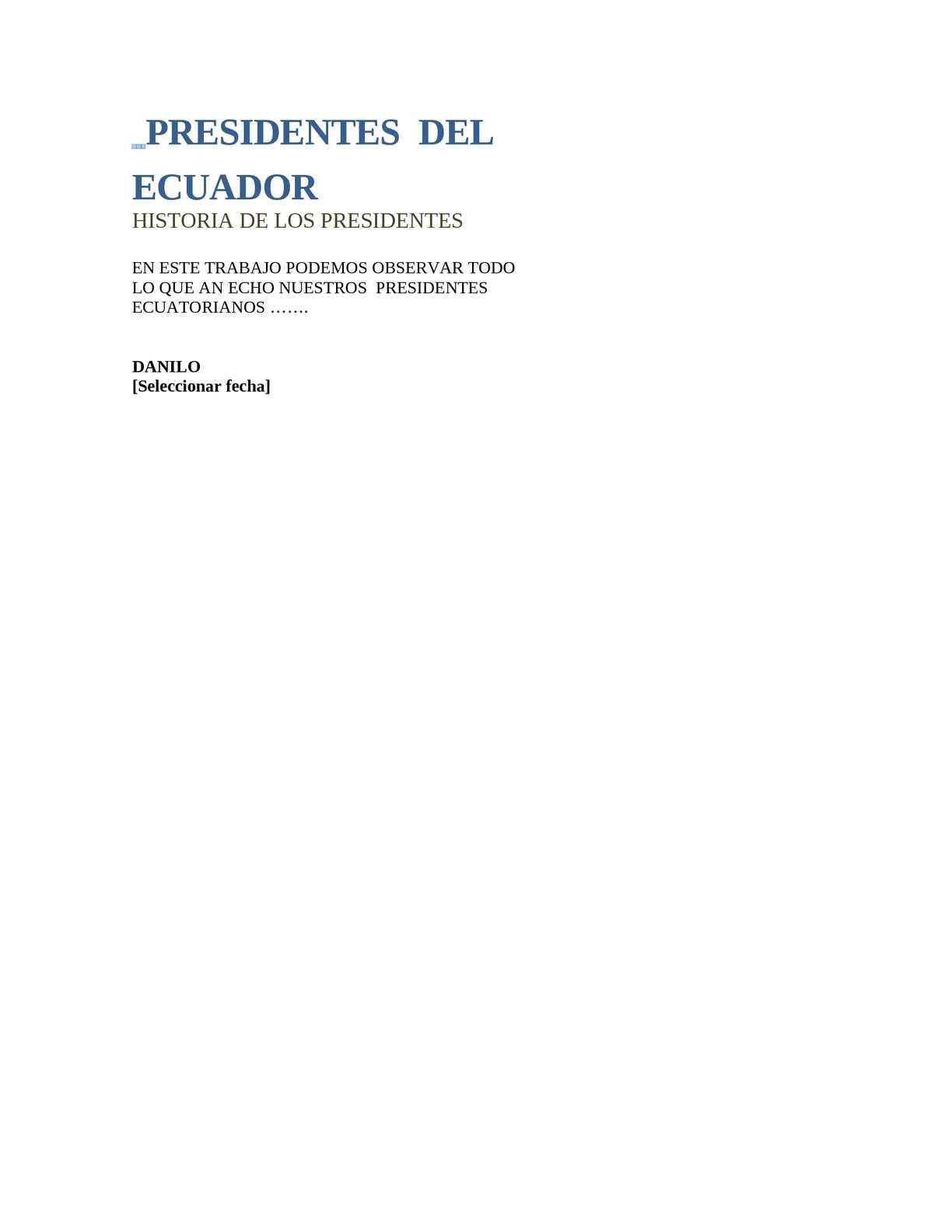 Calaméo - los precidentes del ecuador