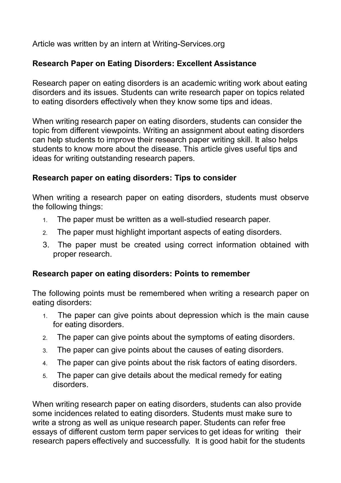 assistance with research paper