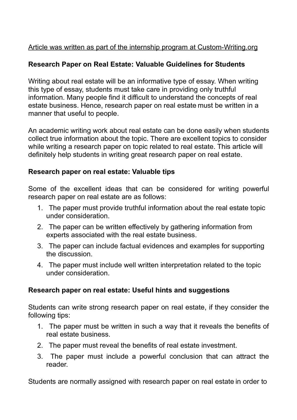 investment research paper topics