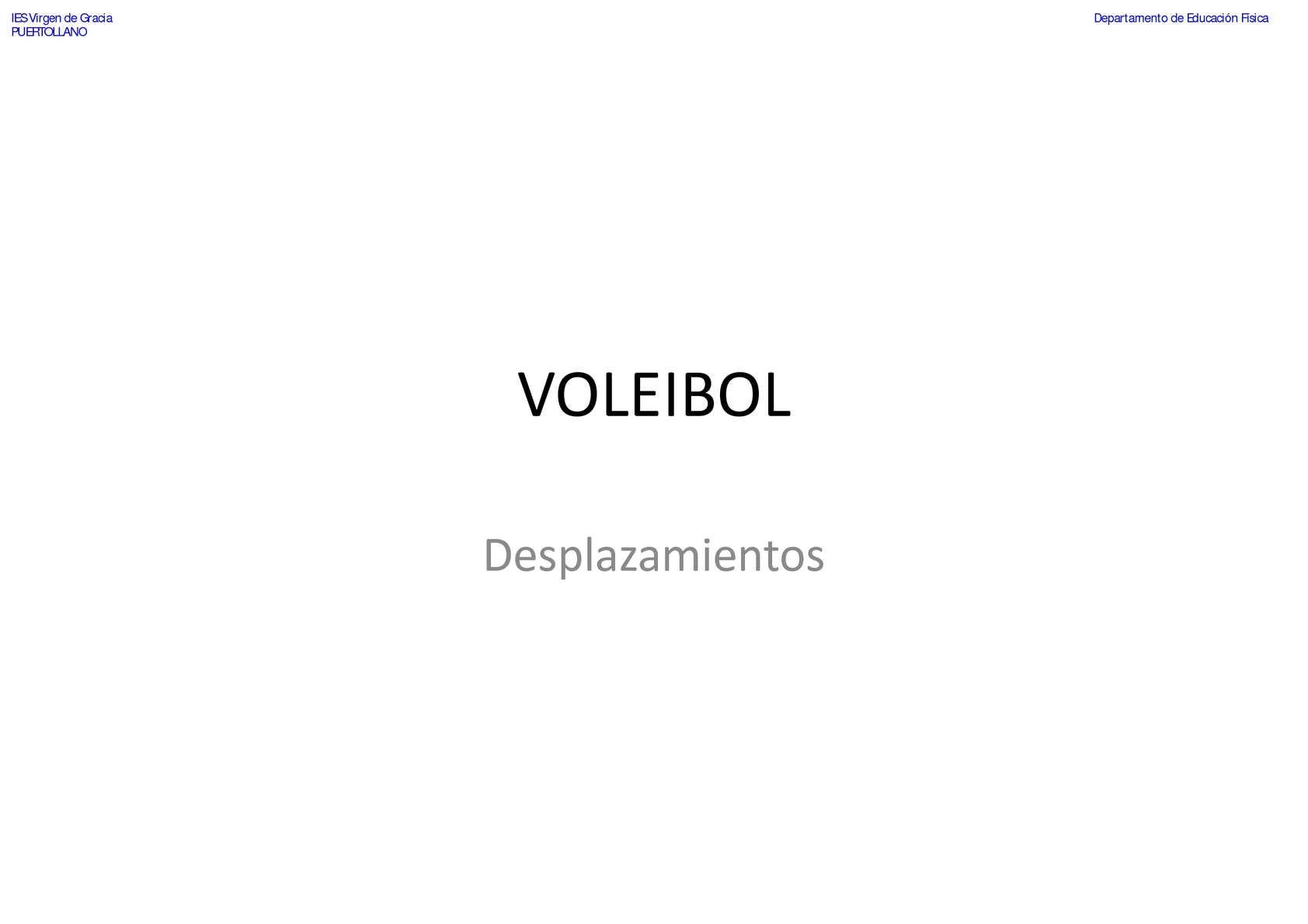 VOLEIBOL-Desplazamientos