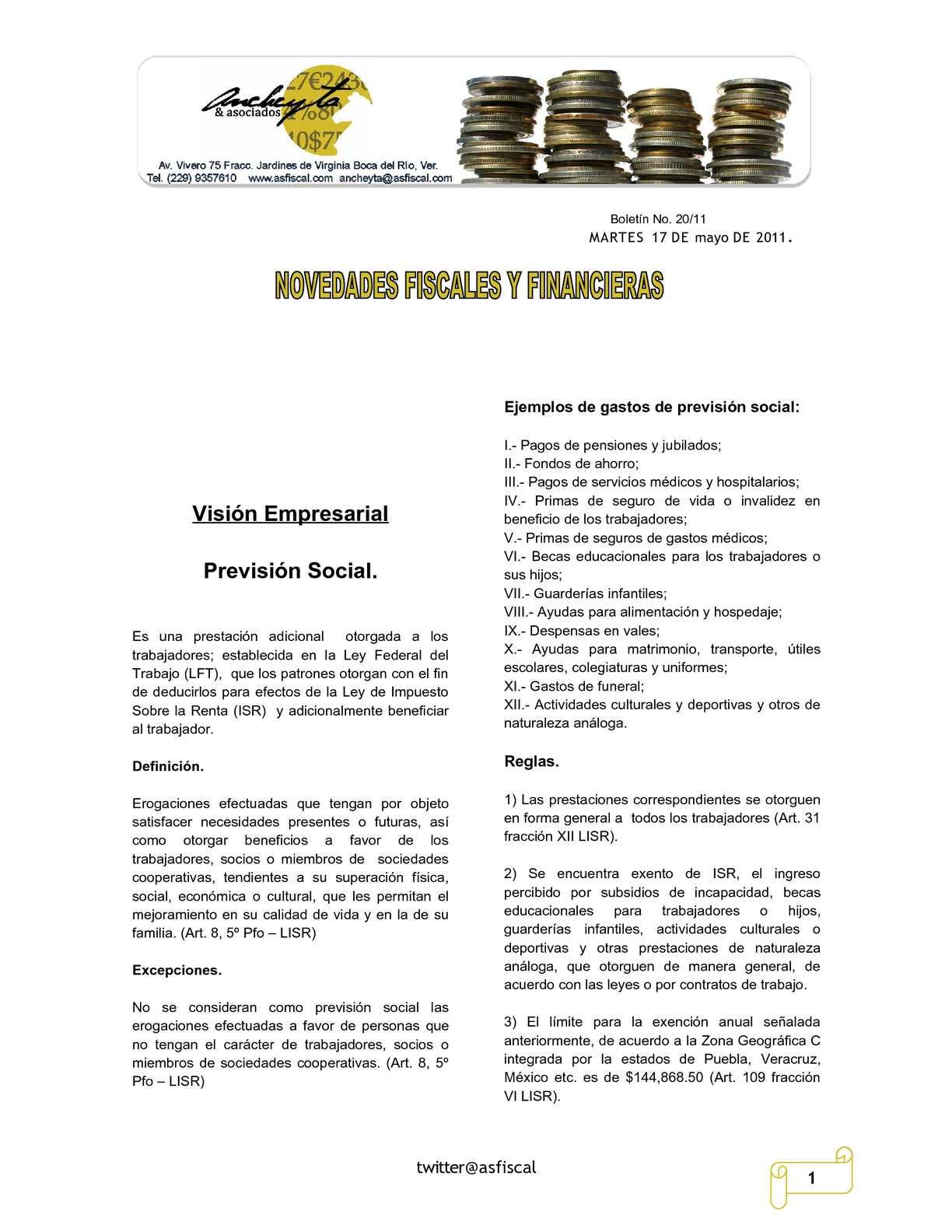 Calaméo - Boletín 20/11 Novedades Fiscales y Financieras