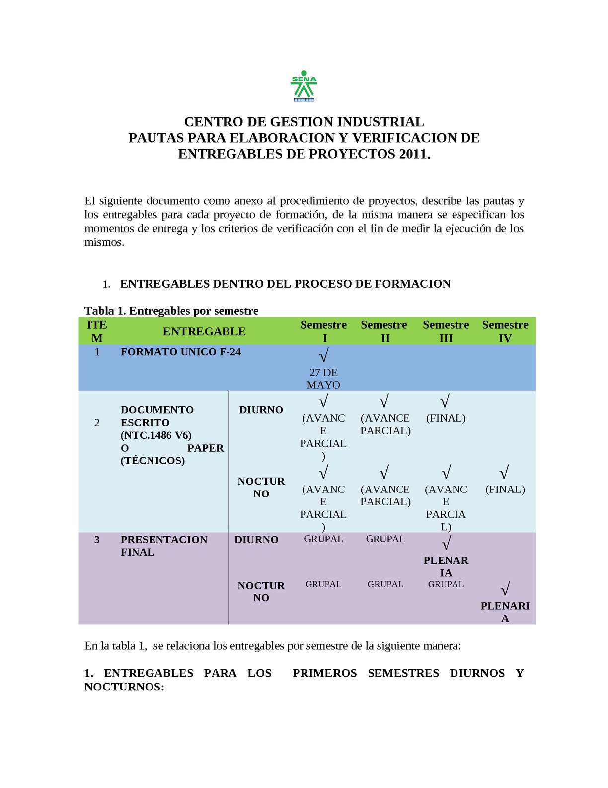 Calaméo - PAUTAS PARA ELABORACION Y VERIFICACION DE ENTREGABLES DE ...