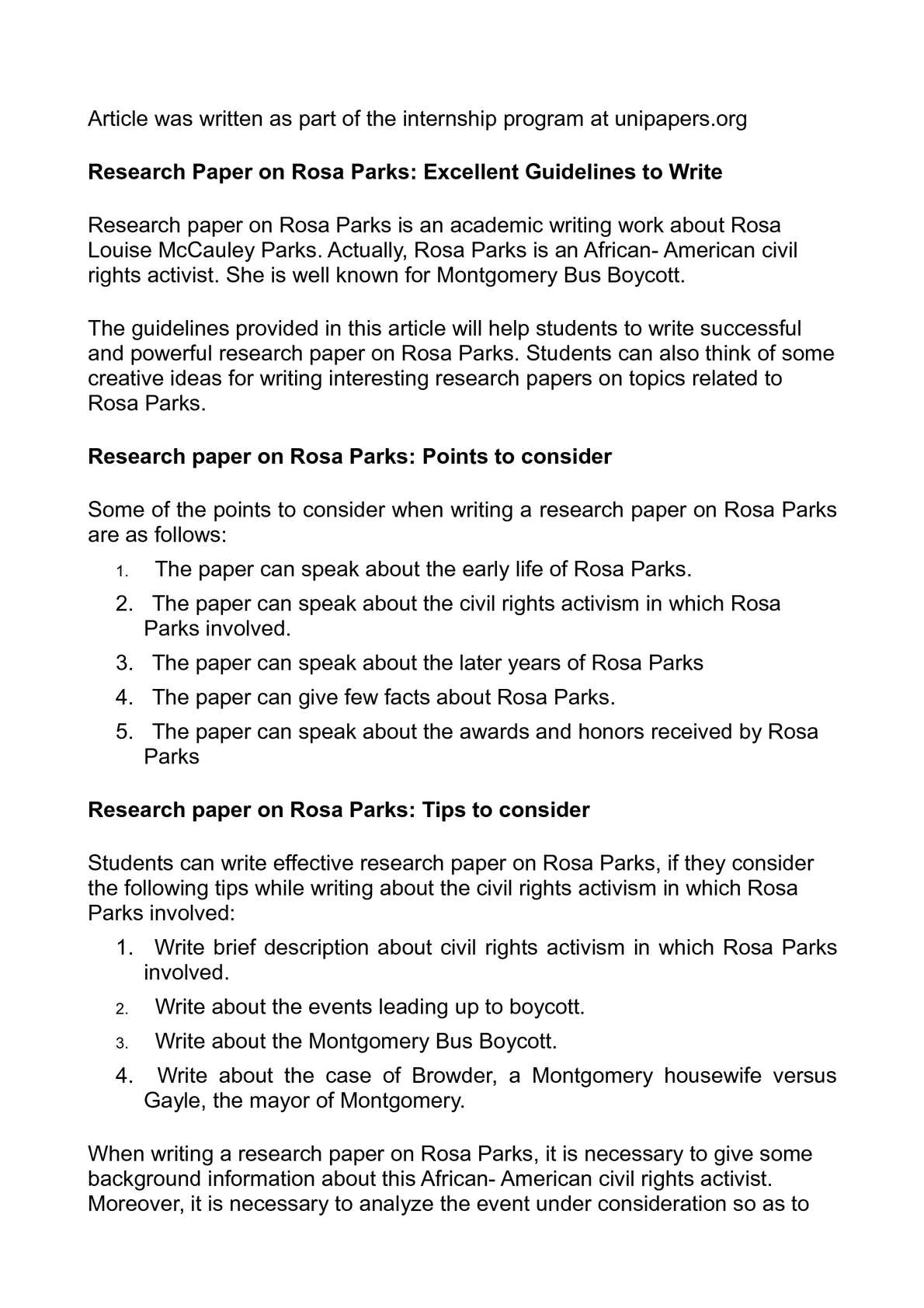guidelines to write a research paper