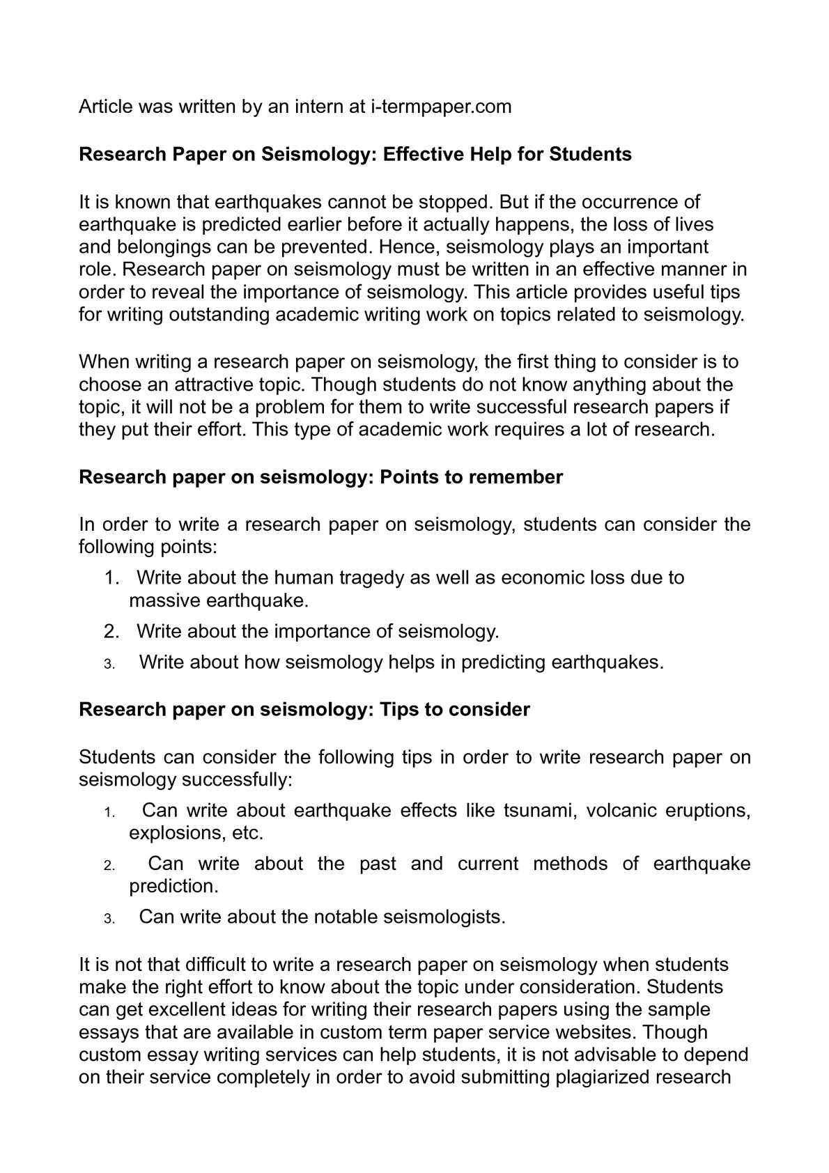 calam eacute o research paper on seismology effective help for students