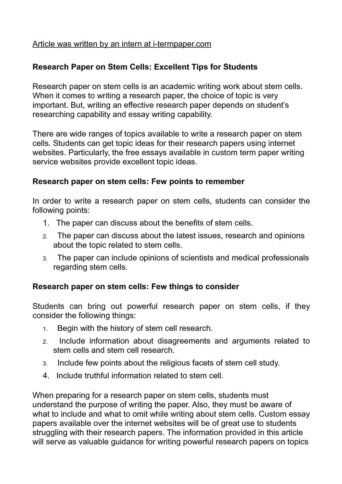 research study topic ideas