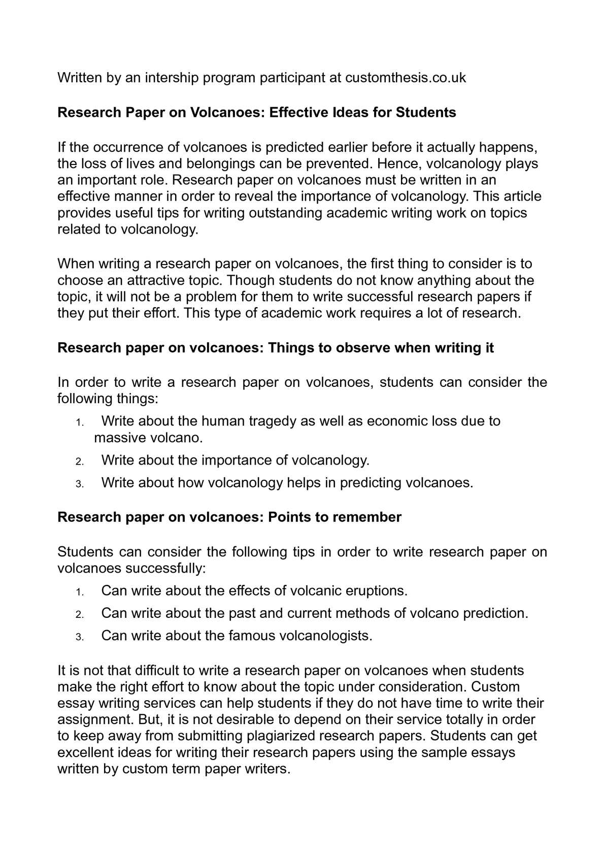 calam eacute o research paper on volcanoes effective ideas for students