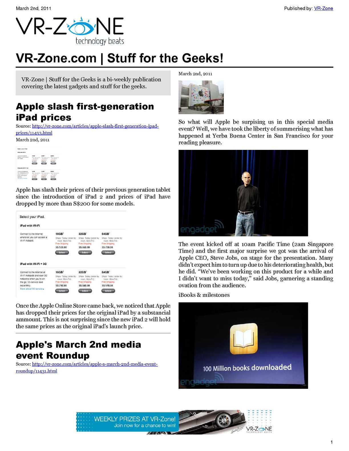 calaméo vr zone technology news stuff for the geeks mar 2011 issue