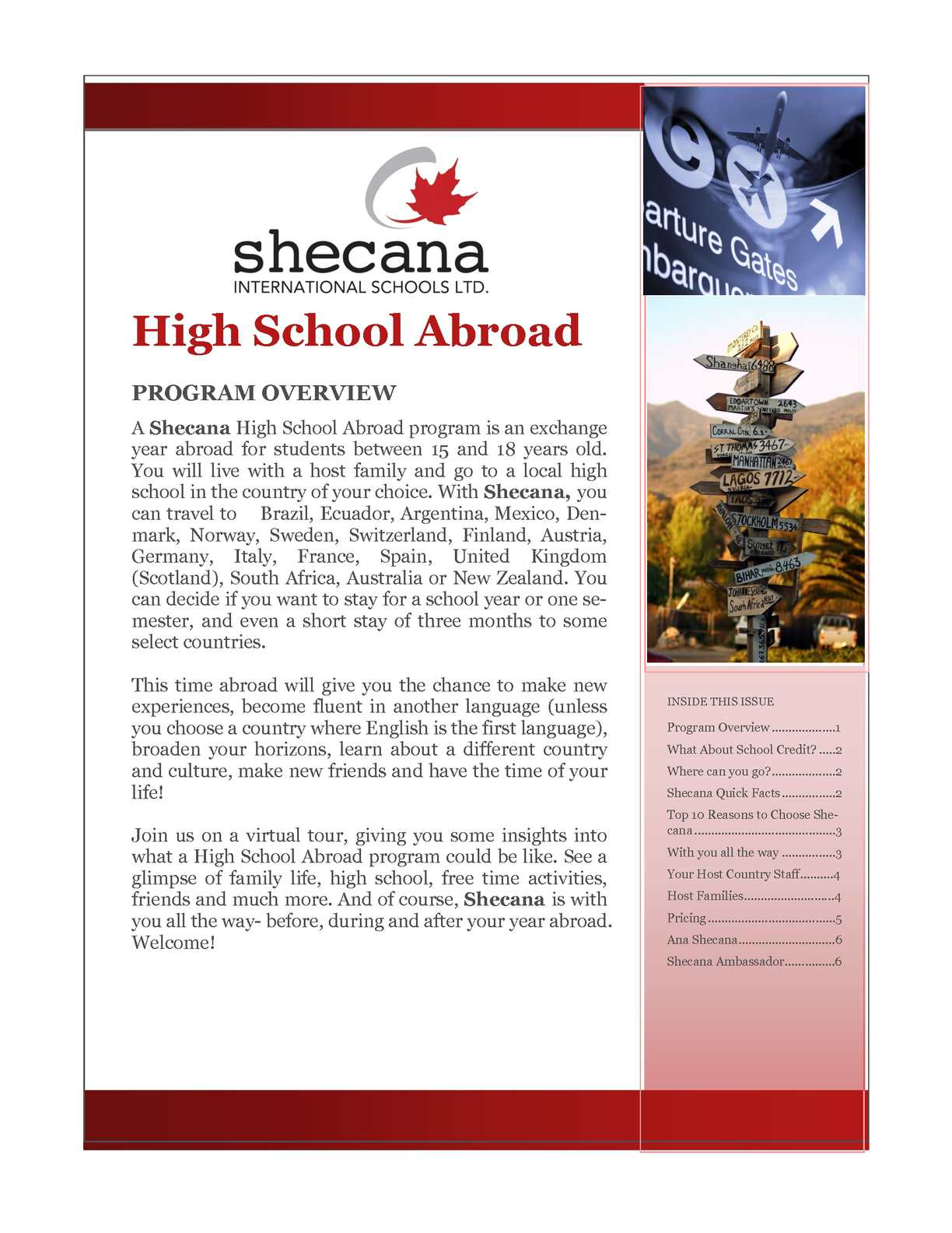 Calaméo Shecana High School Exchange