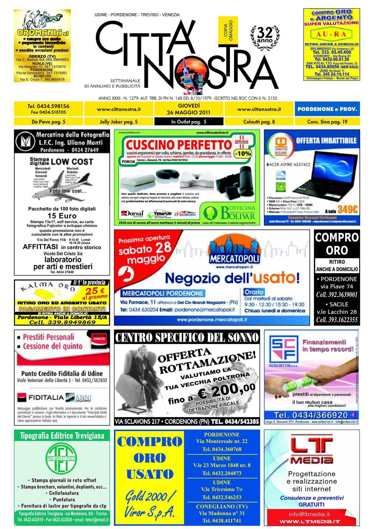 Calaméo Citt Nostra Pordenone Del 26 05 2011 N 1279