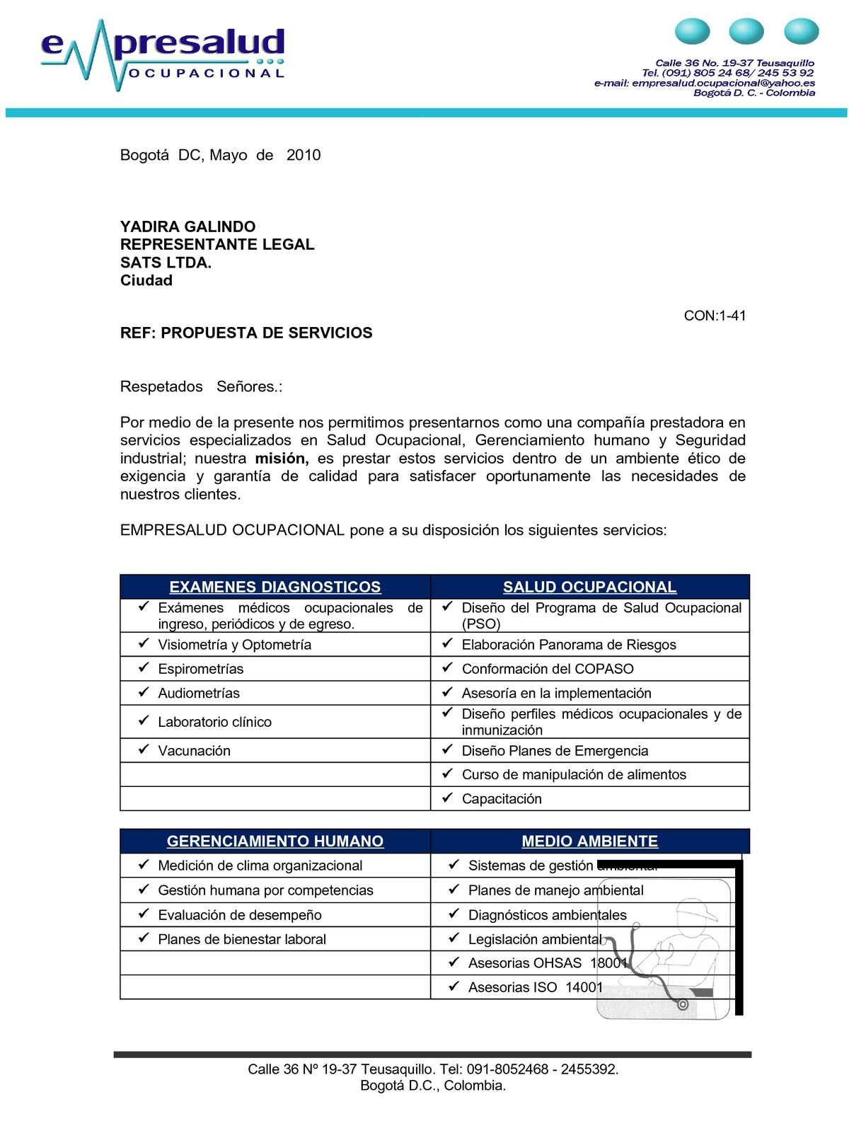 Calaméo - EJEMPLO PROPUESTA DE SERVICIOS.