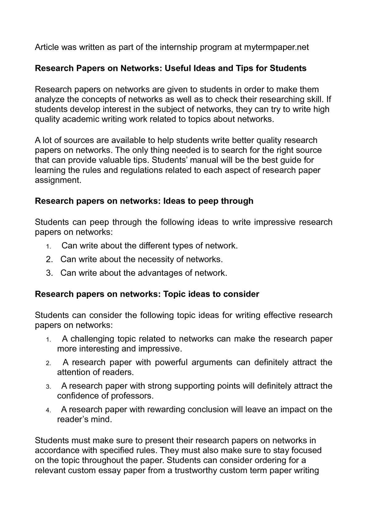 i search paper topic ideas