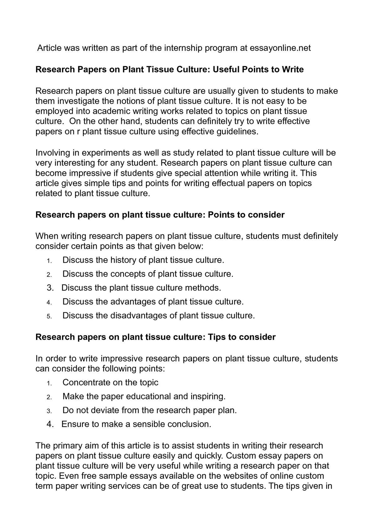 calam eacute o research papers on plant tissue culture useful points calameacuteo research papers on plant tissue culture useful points to write