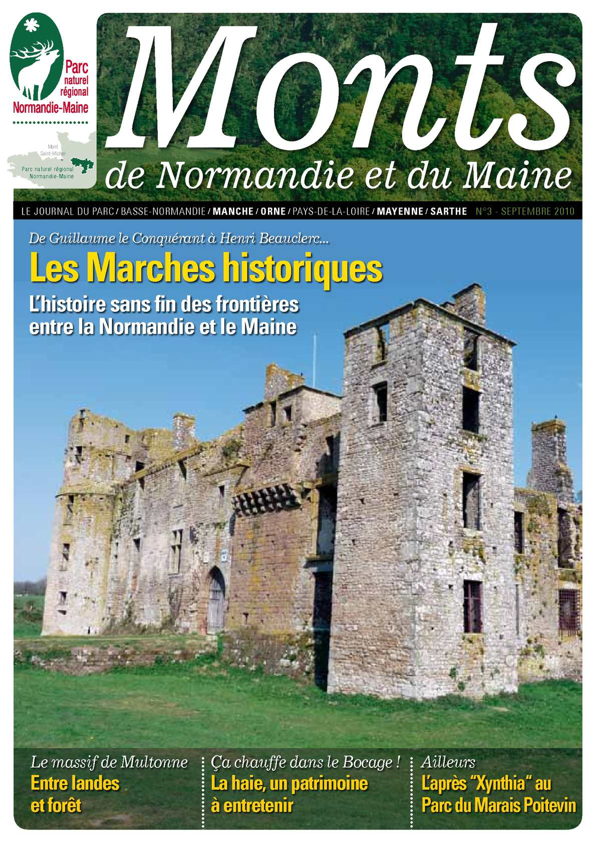 Calam o monts de normandie et du maine journal du parc n 3 septembre 2010 - Journal basse normandie ...