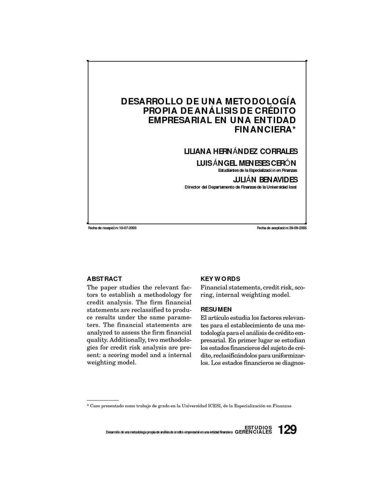 Calaméo - METODOLOGIA IMPLEMENTACION SCORING
