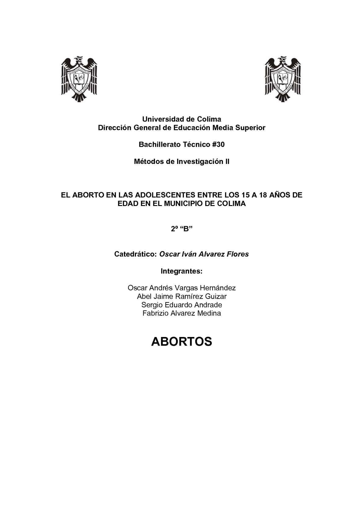 Calaméo - Trabajo de Metodos de Investigacion (El Aborto)