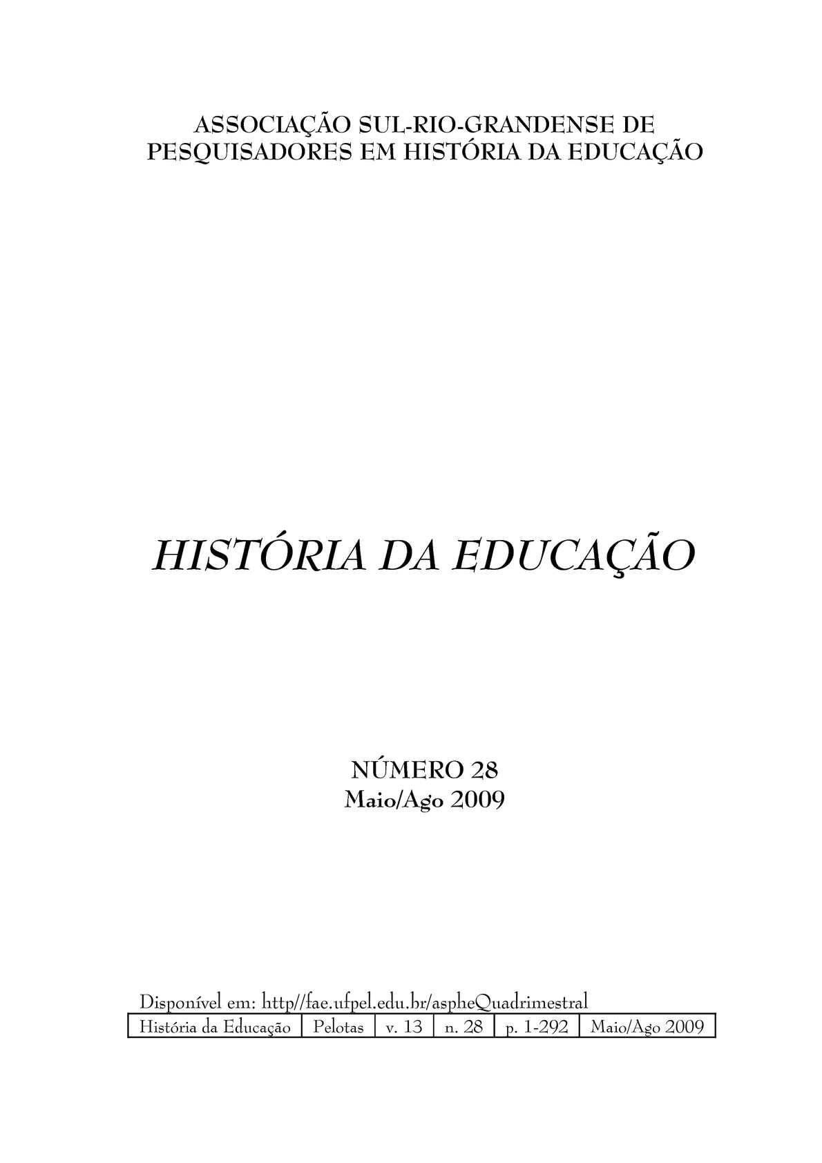 Calamo histria da educao rhe n 28 fandeluxe Image collections
