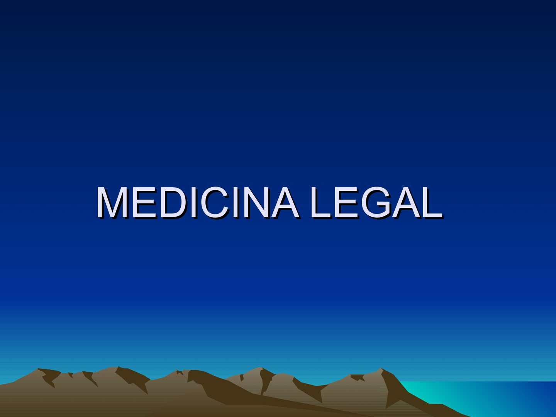 Medicina legal clase 1 de la II unidad