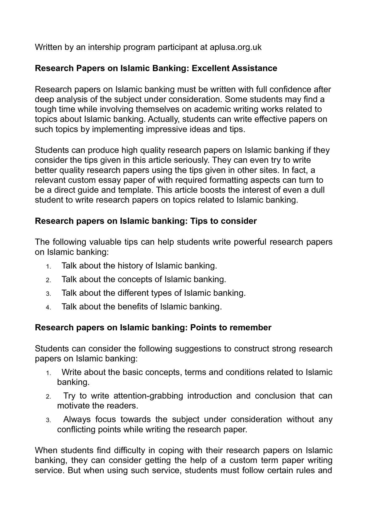 banking research papers