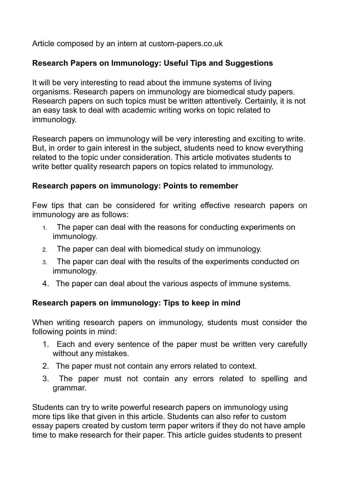 Examples Of A Good Conclusion For A Research Paper