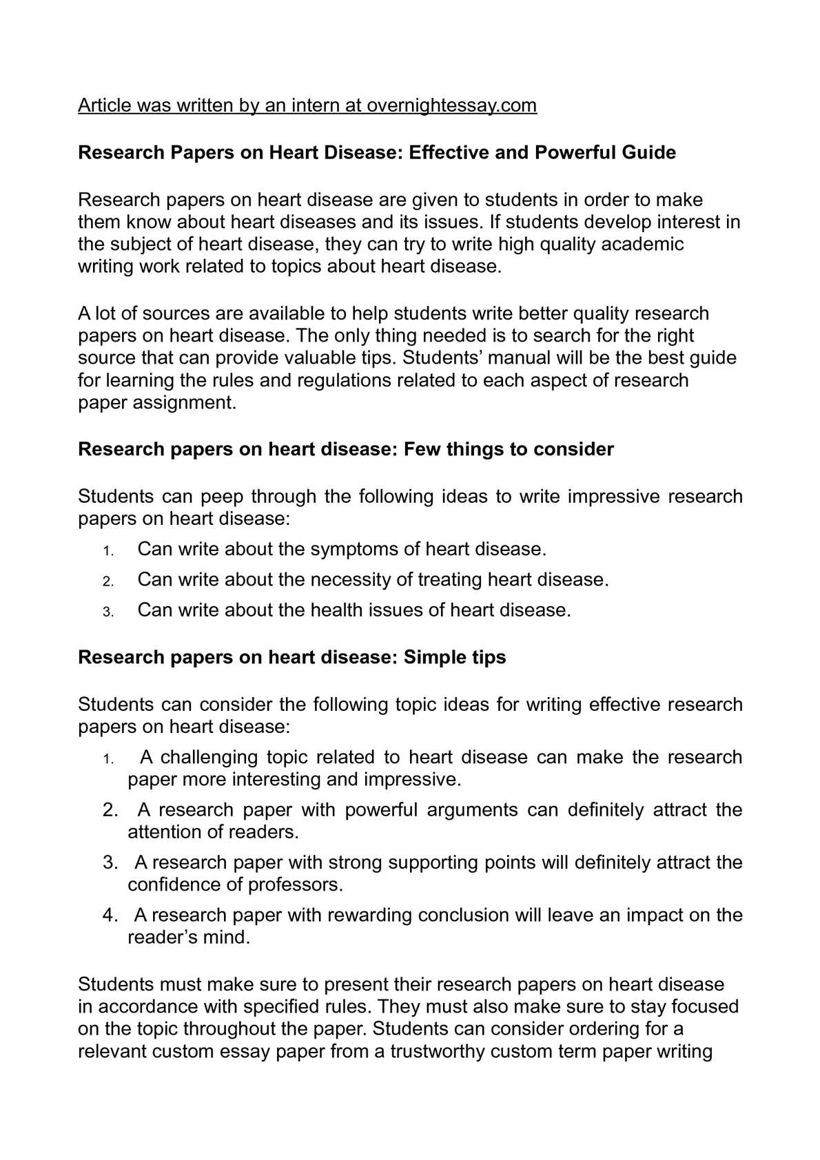 How to write a research paper on the disease diabetes