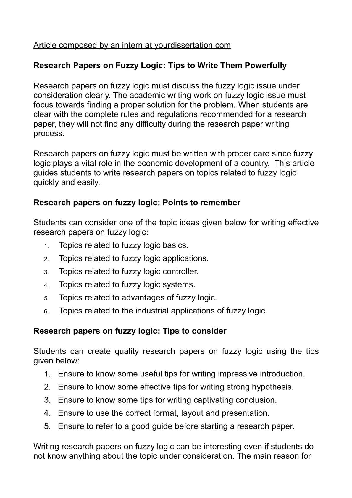 interesting research paper ideas